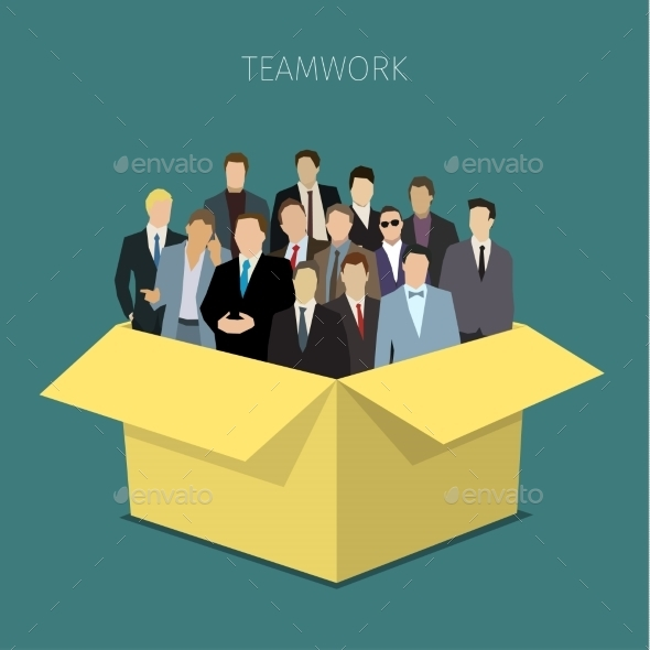 Concept Of Work Team.  - People Characters