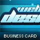 Blue Shock Business Card - GraphicRiver Item for Sale