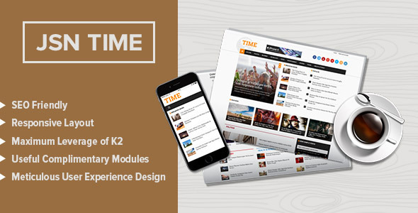 JSN Time – Crucial UX News Template for Joomla