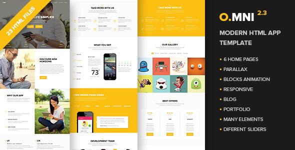 Omni - Modern HTML App Template - Software Technology