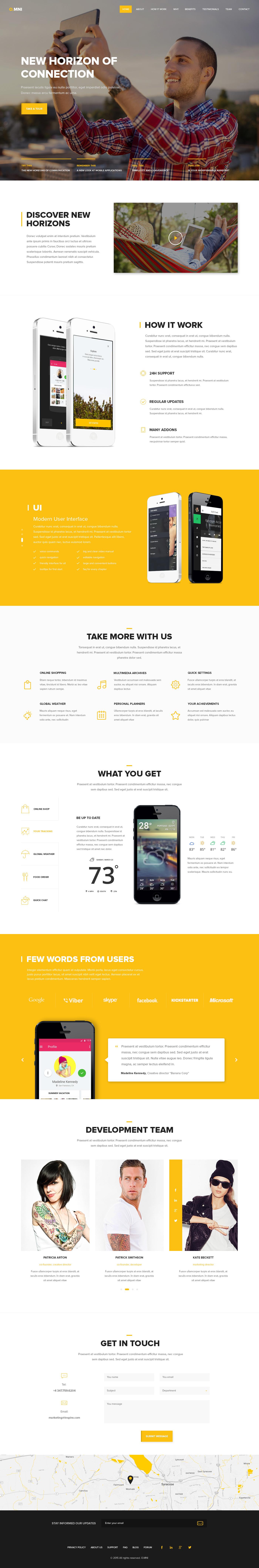Omni - Modern HTML App Template by UnionAgency   ThemeForest
