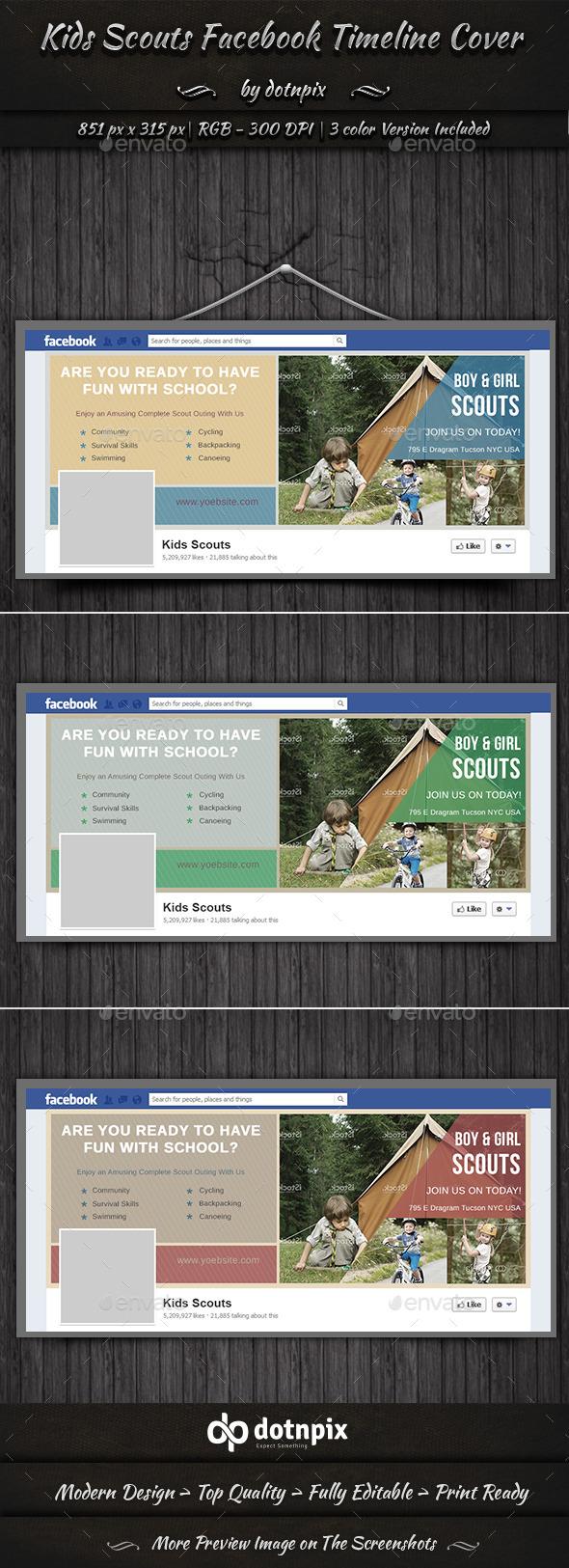 Kids Scouts Facebook Timeline Cover - Facebook Timeline Covers Social Media