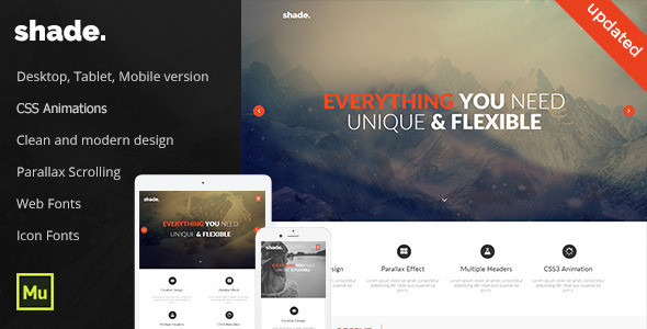 Shade - Creative Template - Creative Muse Templates