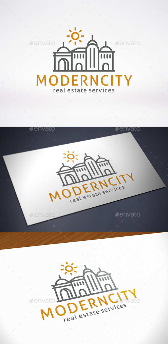 Modern City Logo Template - Buildings Logo Templates