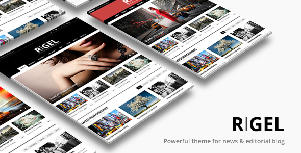 Rigel Responsive Magazine Newspaper Theme