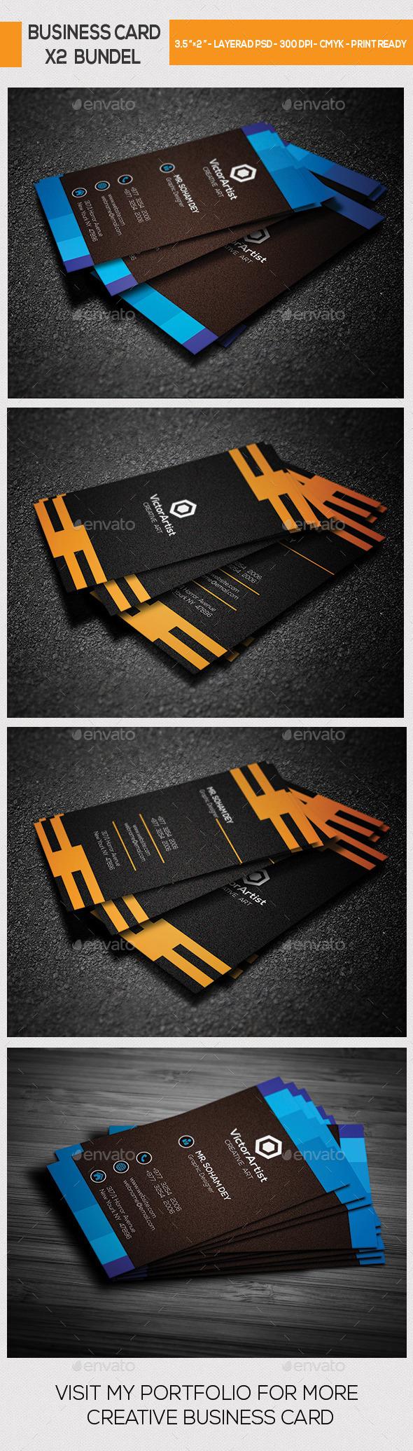 X2 Creative Business Card Bundle - Corporate Business Cards