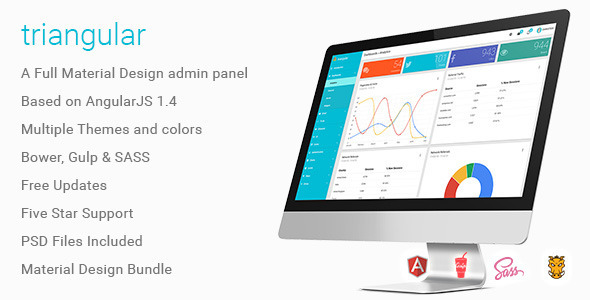 Triangular – Material Design AngularJS Admin Template