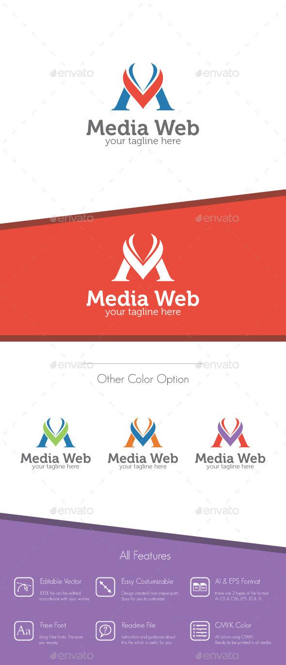 Media Web - Letter M Logo - Letters Logo Templates