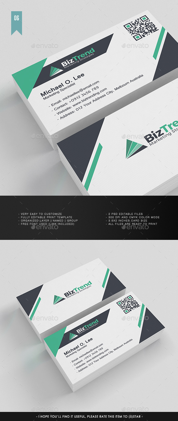 Business Card V.006 - Corporate Business Cards