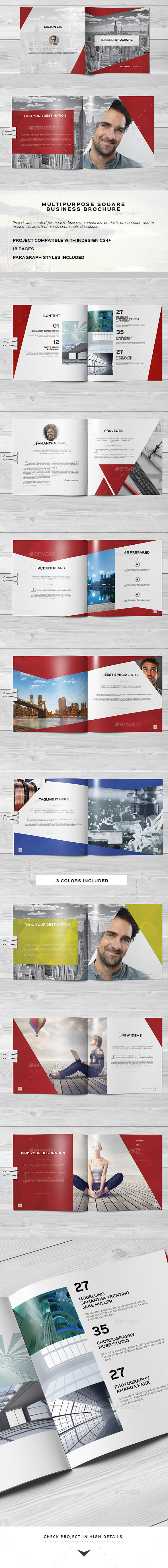 Multipurpose Square Business Catalog / Brochure - Catalogs Brochures