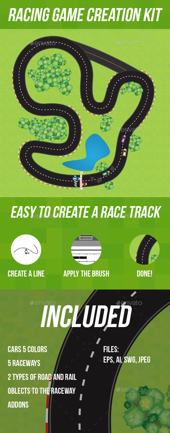 Racing Game Creation Kit - Game Kits Game Assets