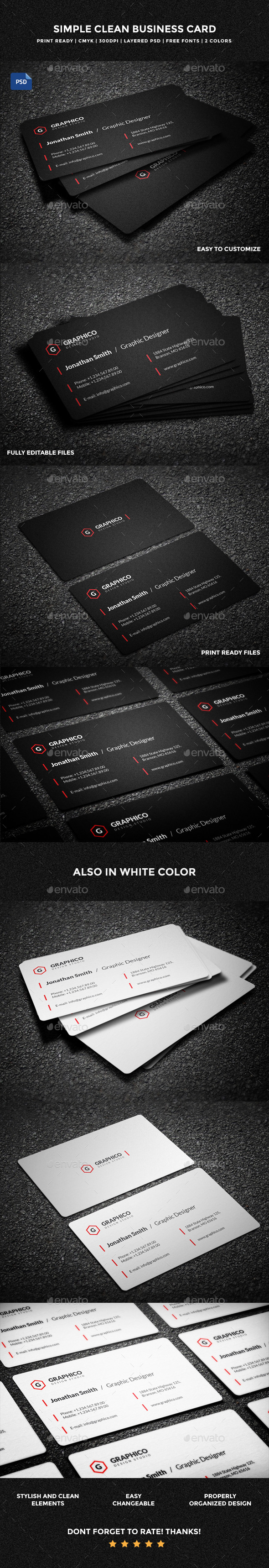 Simple Clean Business Card - 57 - Creative Business Cards