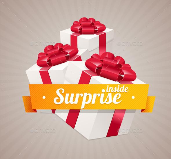 Vector Gift Box Present Card - Miscellaneous Seasons/Holidays