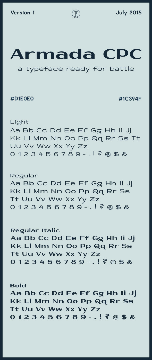 Armada CPC - Sans-Serif Fonts