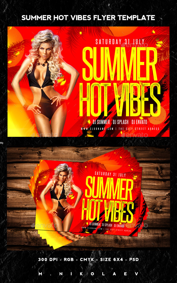 Summer Hot Vibes Flyer - Clubs & Parties Events