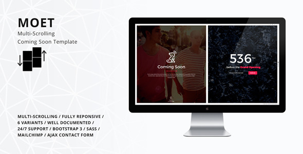 MOET – Multi-Scrolling Coming Soon Template