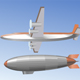 Airplane and Blimp - GraphicRiver Item for Sale
