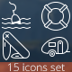 15 Camping Outline Icons - GraphicRiver Item for Sale