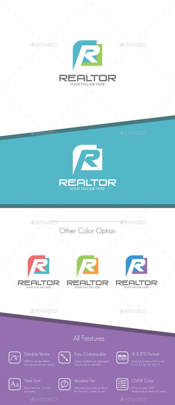Realtor - Letter R Logo - Letters Logo Templates
