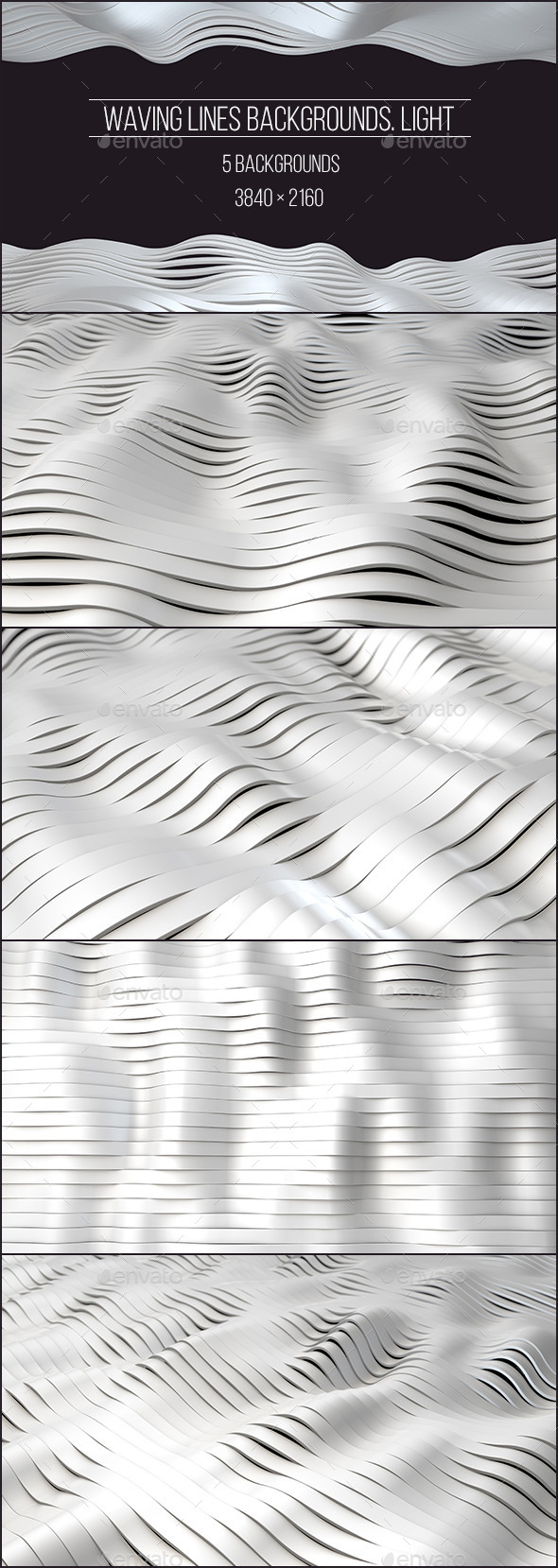 Waving Lines Backgrounds. Light - Abstract Backgrounds