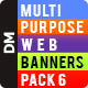 Multipurpose Banners-Pack 6 - GraphicRiver Item for Sale