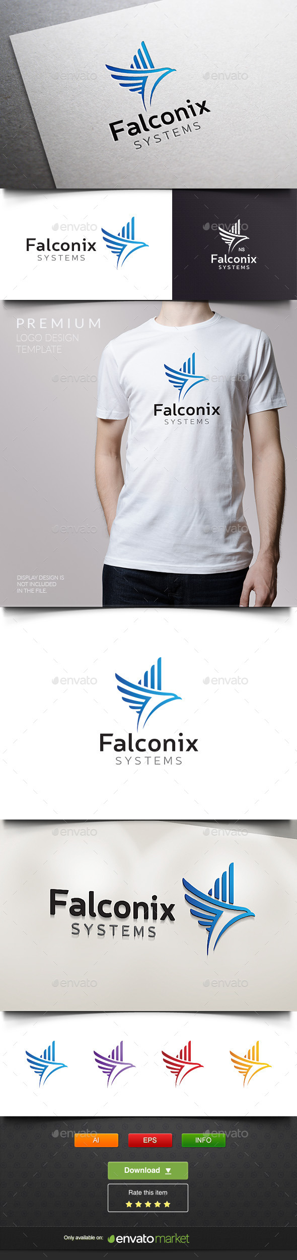 Falconix - Eagle Systems - Abstract Logo Templates
