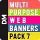 Multipurpose Banners Pack 7 - GraphicRiver Item for Sale