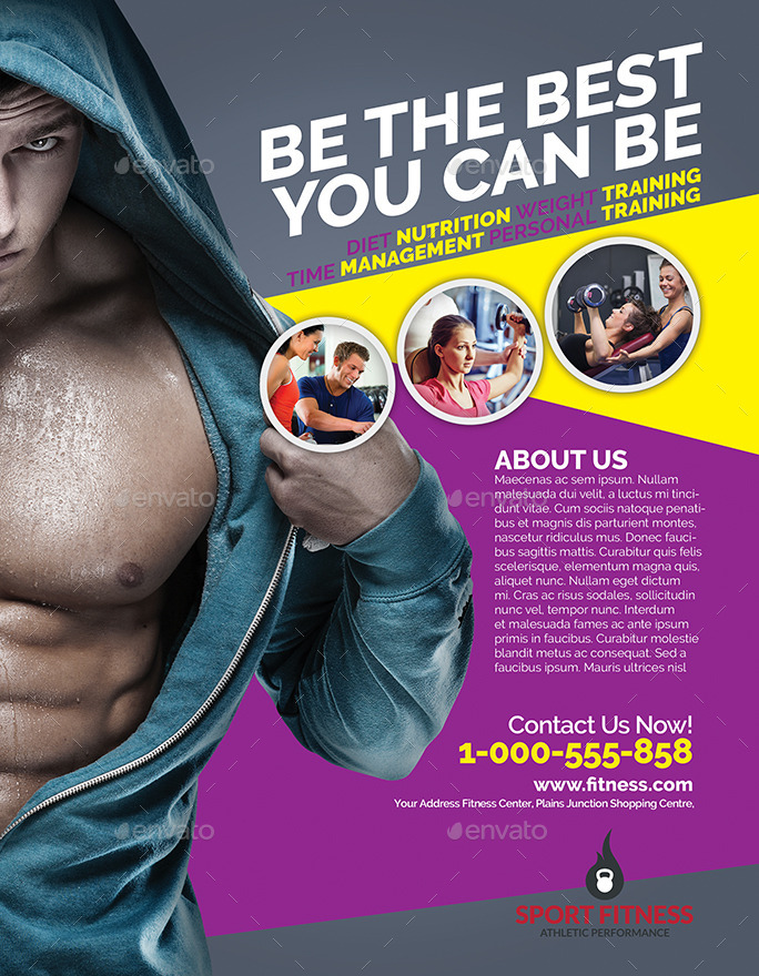 Fitness Magazine Ads Flyer