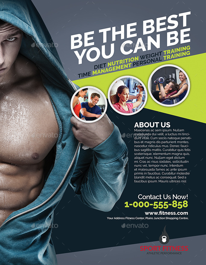 fitness magazine ads flyer by bumiputra