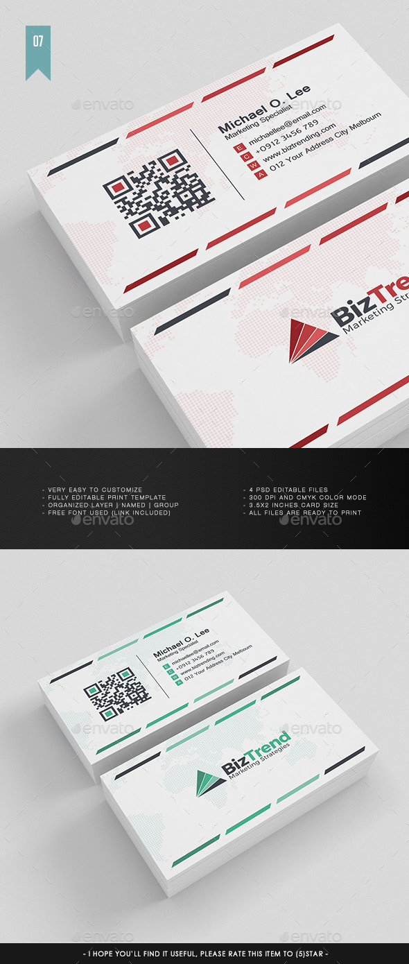 Business Card V.007 - Corporate Business Cards