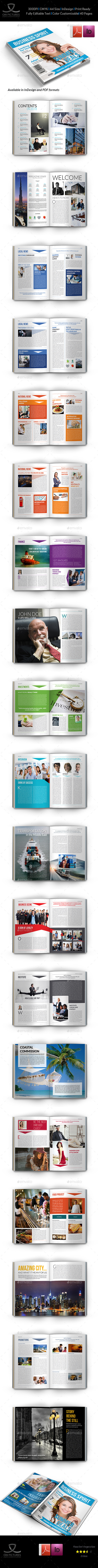 Business Spirit Newsletter Magazine - 40 Pages V.3 - Magazines Print Templates