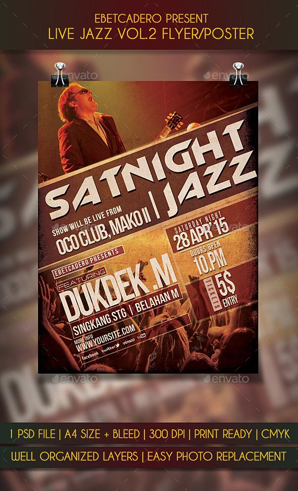Live Jazz Flyer / Poster Vol.2 - Events Flyers