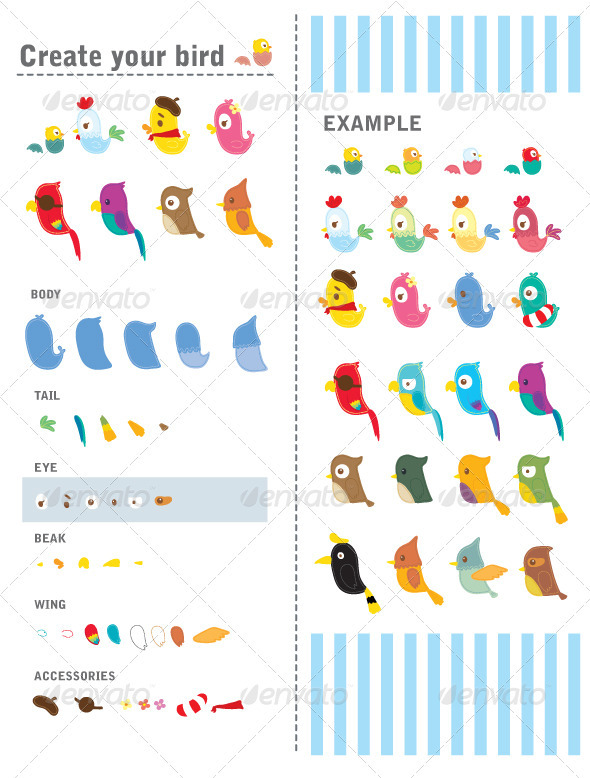 Create your bird - Animals Characters