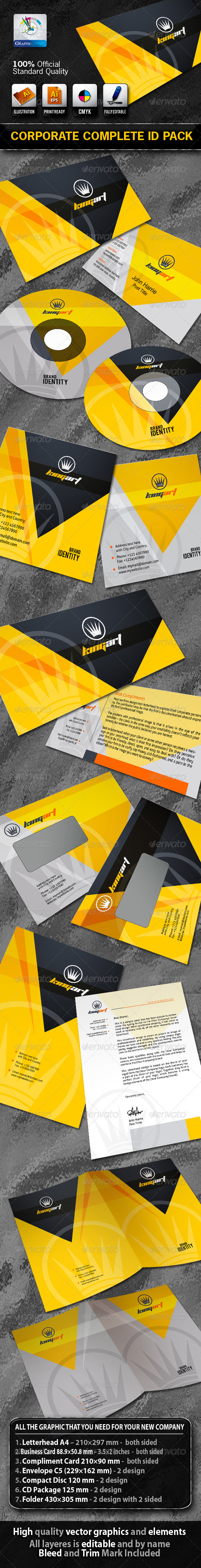 KingArt Business Corporate ID Pack + Logo - Stationery Print Templates