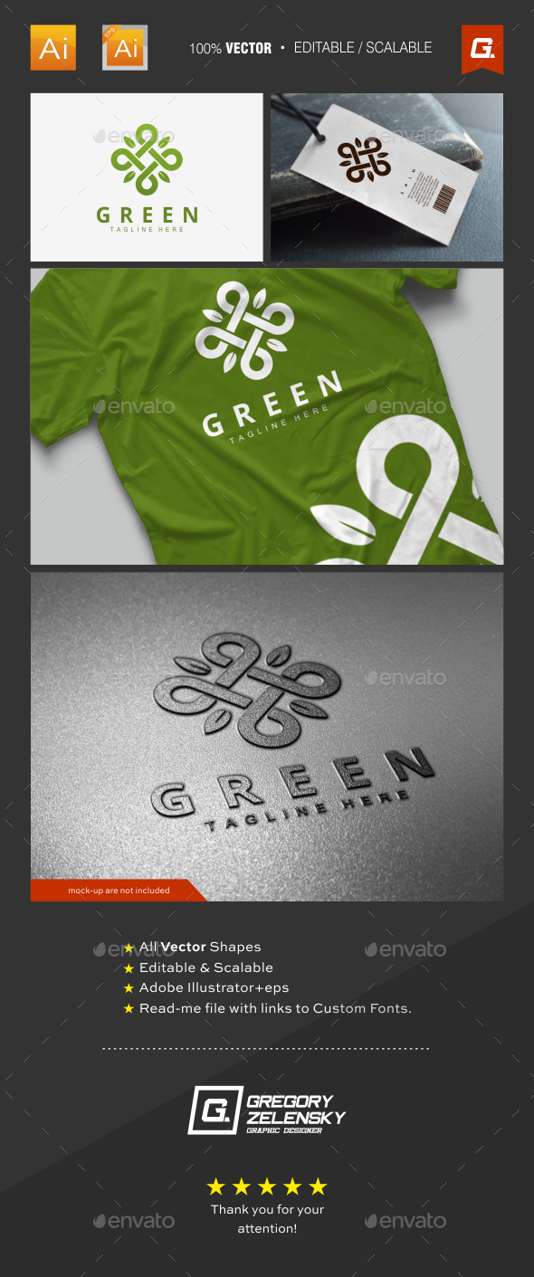 Green Logo Template - Nature Logo Templates