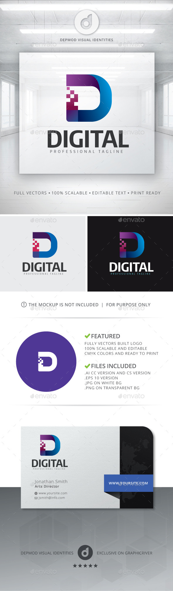 Digital Logo - Letters Logo Templates