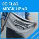 3D Flag Mockup V3 - GraphicRiver Item for Sale