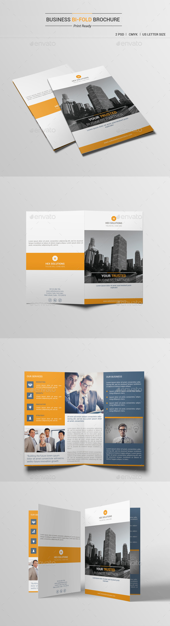 Business Bi-Fold Brochure V1 - Corporate Brochures