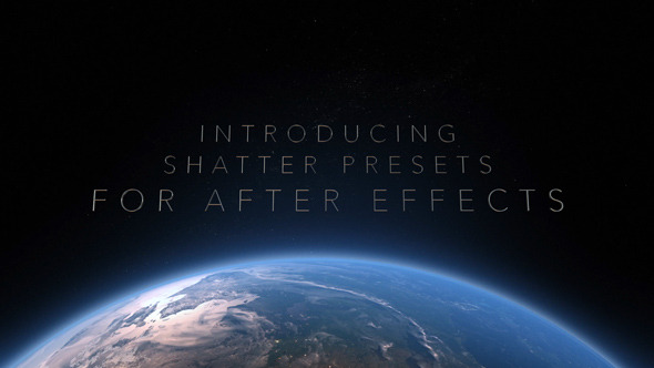 Shatter After Effects Presets