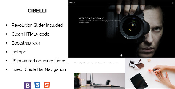 Cibelli Responsive HTML Landing Page Template