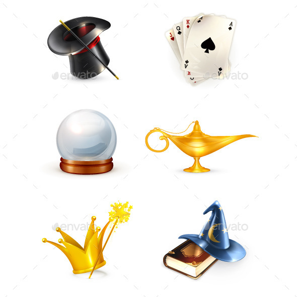 Magician Icons and Cards - Miscellaneous Conceptual
