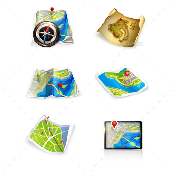 Maps Icons - Travel Conceptual