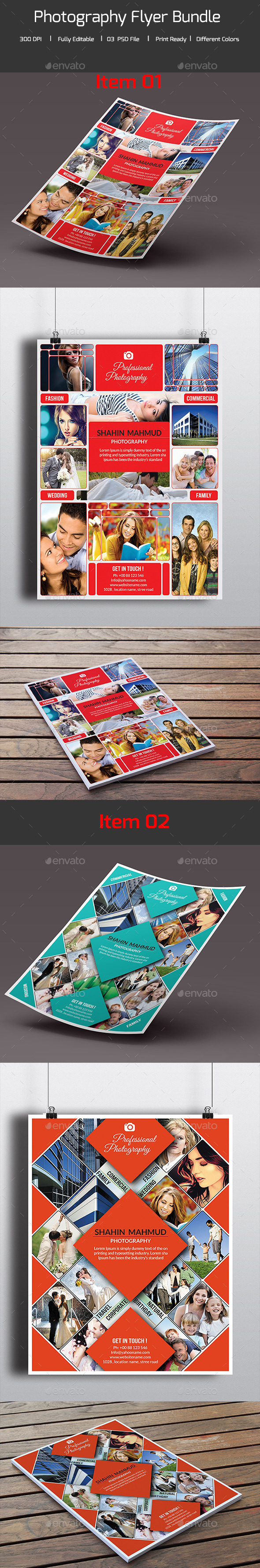 Bundle - 02 in 01 Photography Flyer  - Commerce Flyers