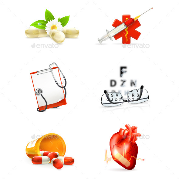 Medicine and Health Icons - Health/Medicine Conceptual
