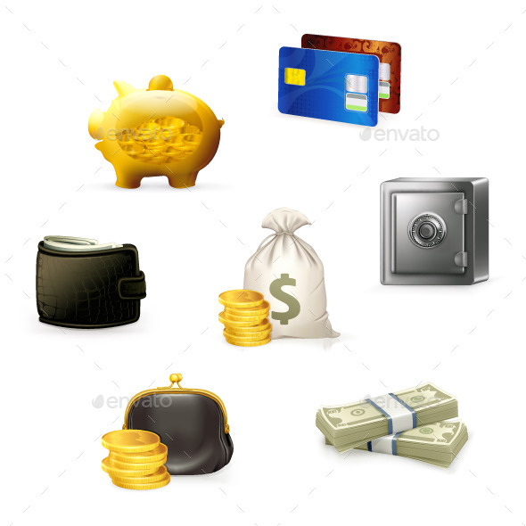 Money and Business Icons - Concepts Business