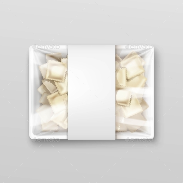 Pelmeni Meat Dumplings Ravioli Packaging - Food Objects