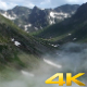Aerial Flying Over on Glacial Valley Clouds - VideoHive Item for Sale