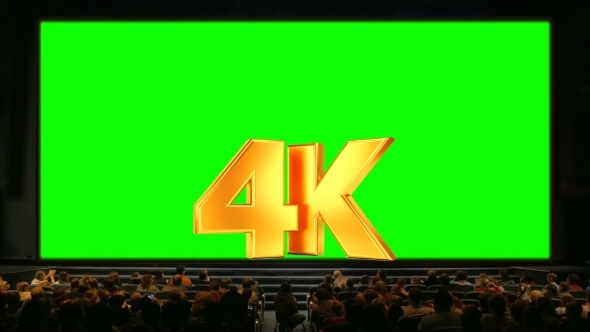 People In The Auditorium With Chroma Key Screen