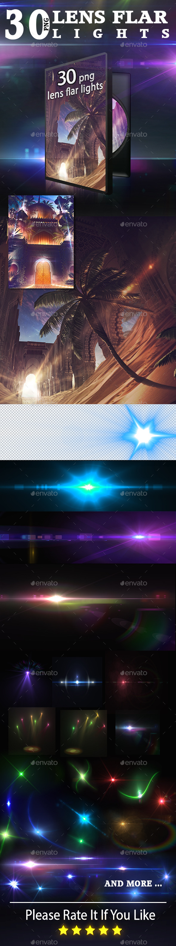 30 Awsome Lens Flare - Decorative Graphics