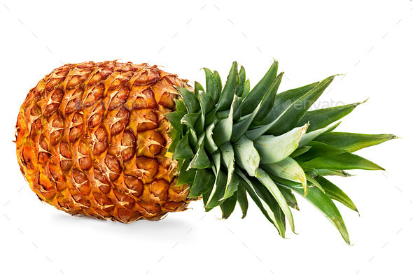 pineapple isolated on white - Stock Photo - Images